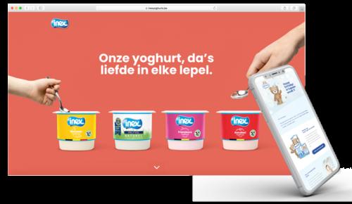 Webdesign & e-mail design voor Inex & Bambix