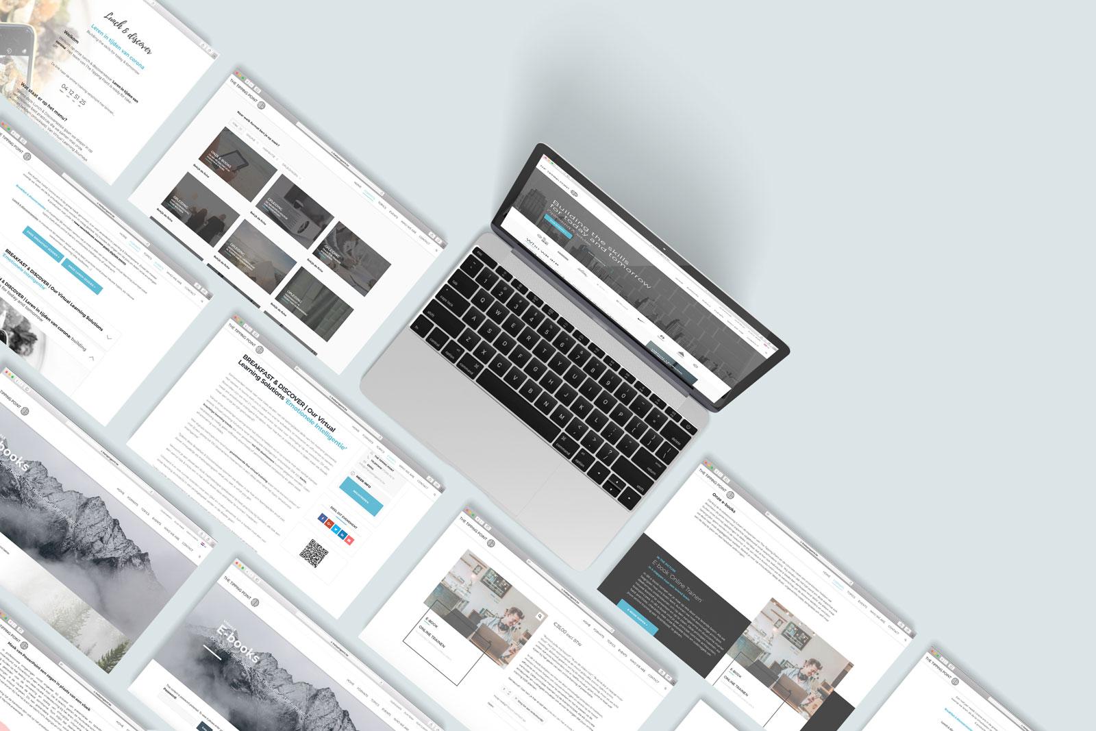 Webdesign en online strategie voor The Tipping Point uit Mechelen